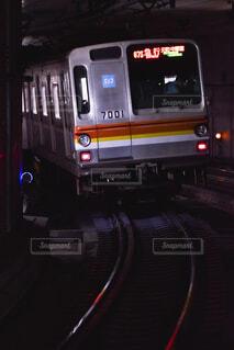 地下を行く車両の写真・画像素材[4519592]