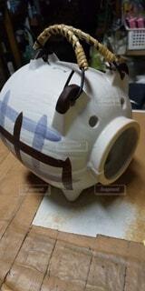 昭和の蚊取り豚の写真・画像素材[4803156]