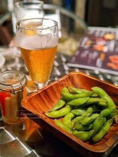 枝豆とビールで乾杯♪の写真・画像素材[4655023]