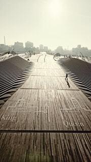 大さん橋(フィルム調)の写真・画像素材[4699224]