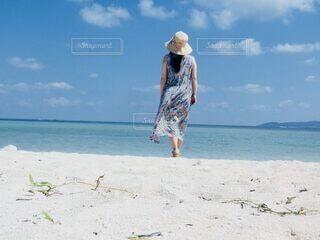 沖縄のビーチにての写真・画像素材[4693713]