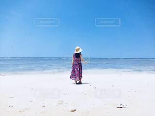 夏のビーチにての写真・画像素材[4693764]