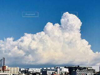 大きな入道雲の写真・画像素材[4695054]