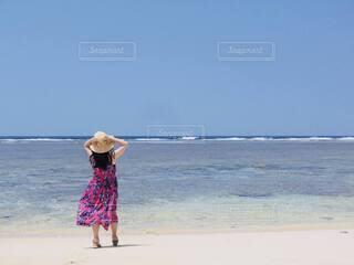 真夏の海での写真・画像素材[4719389]