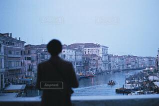 ベネチアの夜明けの写真・画像素材[4586133]