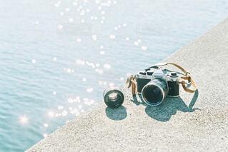海とカメラの写真・画像素材[4606816]