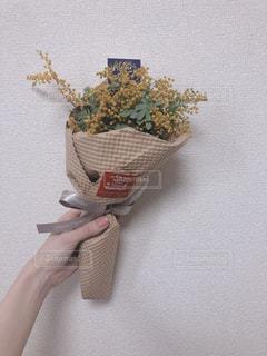 ミモザの花束の写真・画像素材[1839464]