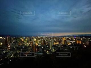 城山から眺める鹿児島市内の写真・画像素材[4537258]