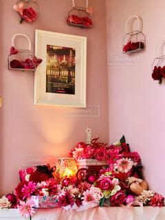 お花に囲まれて…の写真・画像素材[4614124]
