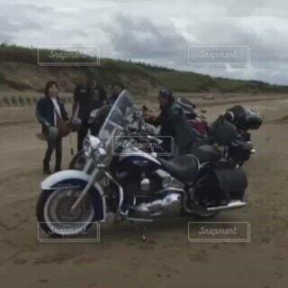 海,空,砂浜,バイク,海岸,ハーレー,ドライブウェイ,最高気分