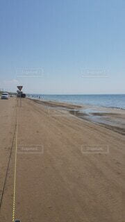 海,空,砂浜,バイク,海岸,ドライブウェイ,最高気分