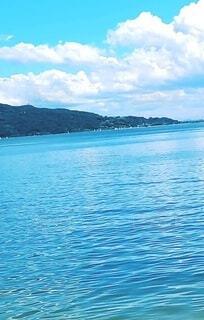 水面の煌めきの写真・画像素材[4716111]