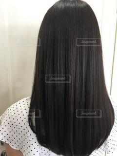 艶々の髪の毛を手に入れましたの写真・画像素材[4567694]