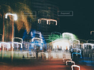 都市のぼやけた写真の写真・画像素材[4565315]