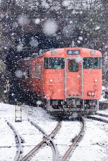 雪に覆われた鉄道の写真・画像素材[1734733]