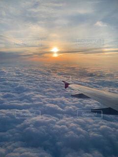 空の雲のクローズアップの写真・画像素材[4568301]