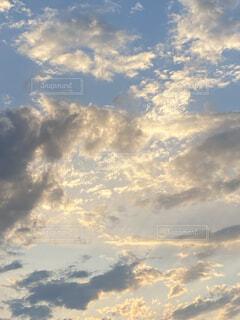 自然,空,屋外,白,雲,夕暮れ,水色