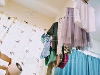 部屋干しの写真・画像素材[4634531]