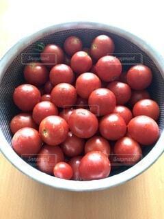 ボウルいっぱいにミニトマトの収穫の写真・画像素材[4657785]