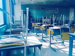 放課後の教室の写真・画像素材[4630822]