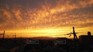ベランダから見る夕日がキレイの写真・画像素材[4830934]
