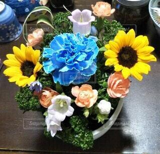 花,たくさん,フラワーアレンジ,草木