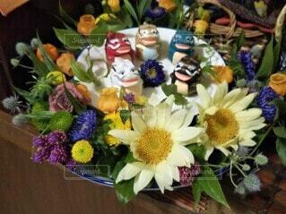 花,屋内,花束,花瓶,花柄,草木