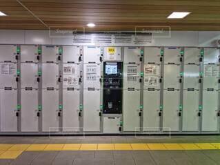 駅構内のコインロッカー。の写真・画像素材[4626635]