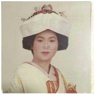 文金高島田に角隠し、花嫁衣装を着た女性。の写真・画像素材[4712177]