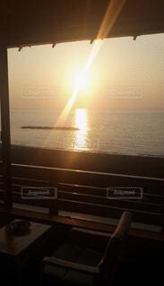 海,空,湖,太陽,ビーチ,夕焼け,夕暮れ,水面,明るい