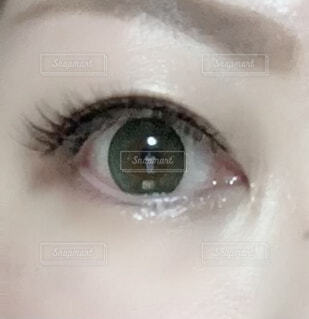 顔,グリーン,目,瞳,まつげ,カラコン,閉じる,眼球