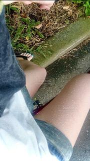 風景,自転車,雨,水面,人物,人,脚,履物,短パン,濡れた,フィート