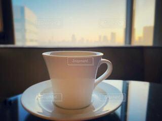 朝焼け,コーヒーカップ