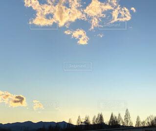 自然,風景,空,屋外,雲,夕焼け,樹木,グラデーション