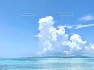 自然,海,空,屋外,ビーチ,雲,水面,沖縄,水平線,ブルー,竹富島