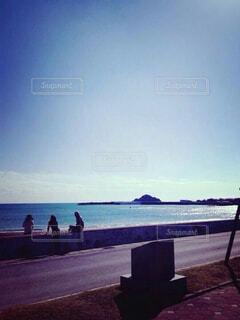 海,空,屋外,ビーチ,雲,青,砂浜,水面,海岸,日中