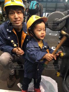 電車,癒し,修理,父と子,共同作業