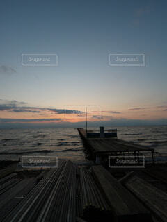 雲,夕焼け,夕陽,琵琶湖,コロナ,鳥人間コンテスト