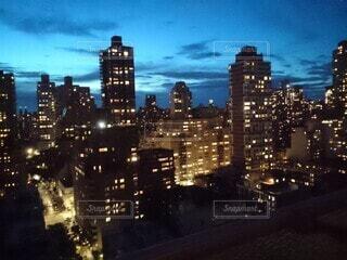 風景,空,建物,夜景,ニューヨーク,屋外,雲,都市,タワー,都会,高層ビル,マンハッタン,ダウンタウン