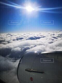 空,屋外,雲,青空,飛行機,大空,飛ぶ,航空機,フライト