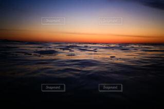 自然,海,空,ビーチ,雲,水面,日の出