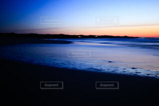 風景,空,屋外,湖,ビーチ,雲,夕暮れ,水面