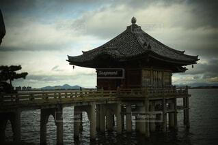 風景,空,屋外,湖,雲,水面,桟橋