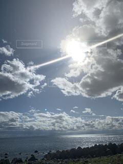 自然,空,屋外,雲,水面,海岸,くもり,日中
