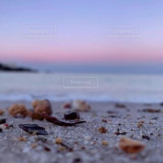 自然,海,空,ビーチ,砂浜,貝殻,水面,癒し,朝,インスタ映え
