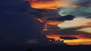 自然,風景,夏,屋外,雲,夜明け,日の出,夕暮