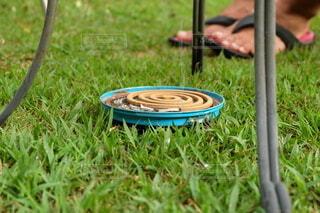 蚊取り線香で足元を守るの写真・画像素材[4649160]