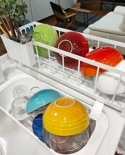 キッチン,屋内,カラフル,食器,台所,色,洗い物,ル・クルーゼ