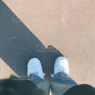夏,靴,白,暑い,影,昼間,日中,真夏日