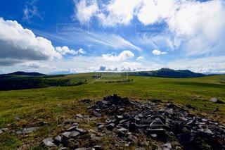 自然,風景,空,屋外,雲,山,景色,草,岩